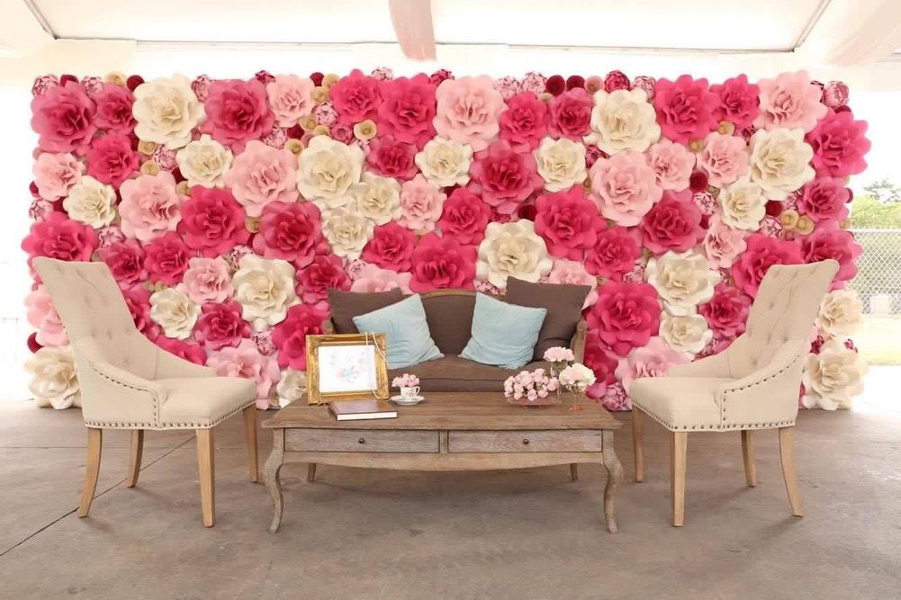 Paper flower wall. Paper Flower Wall Rental. Sugar Land Rental. Houston Paper Flower Wall Rental. Marie Antoinette. Baby shower. Wedding decor. Houston wedding decor. Houston, TX. Pink Paper Flower Wall. Paper Flower artistry. Paper flower artistry.