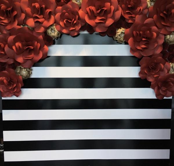 paper flowers, paper flower backdrop, wedding decor, Kate spade inspired,