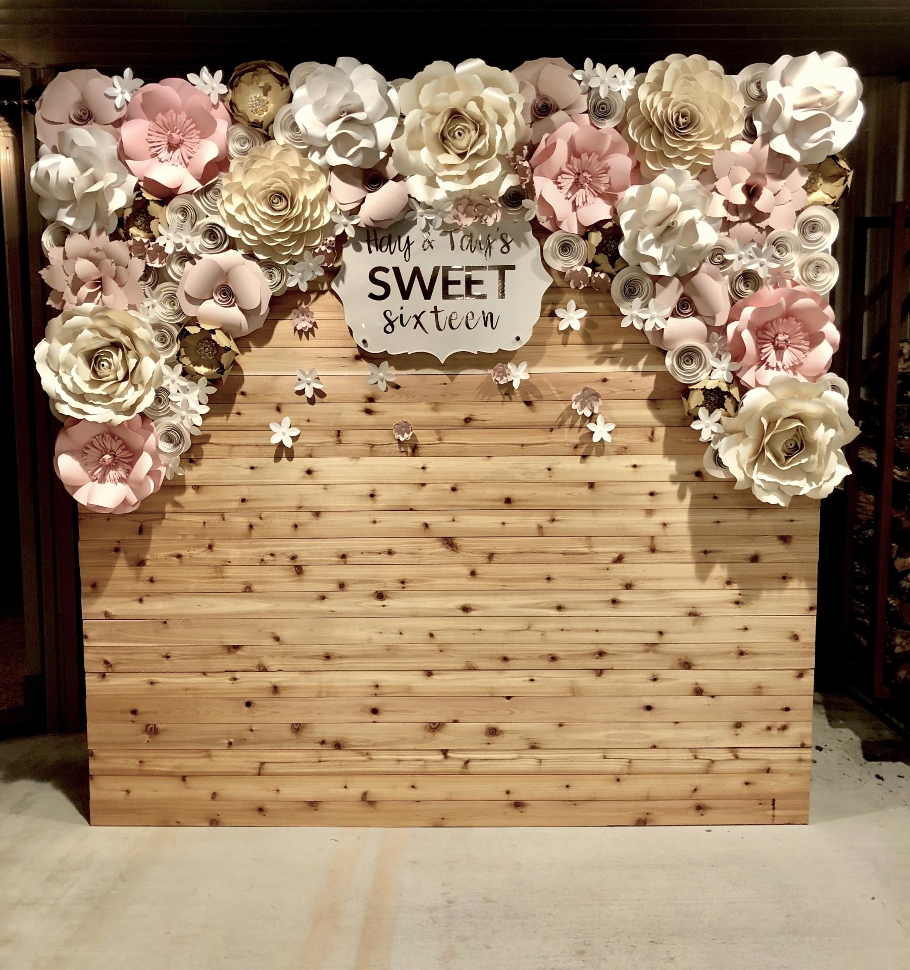 Sweet sixteen decor, rustic sweet sixteen, rustic party decor