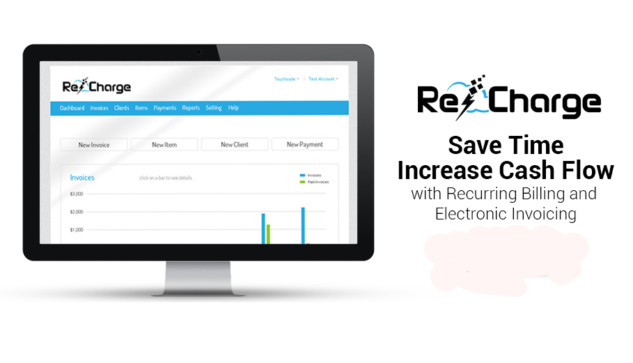 Recharge, Recurring billing, electronic payment, electronic invoicing