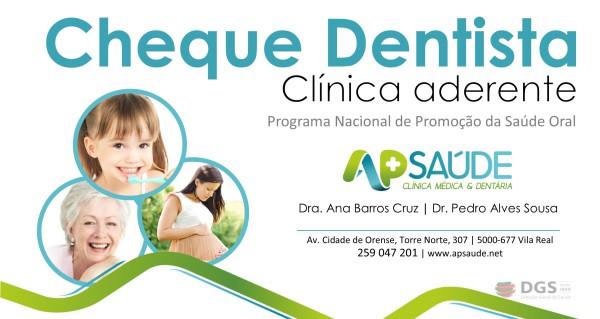 Traga o Cheque Dentista e usufrua de tratamentos sem qualquer custo! Nós tratamos de tudo!