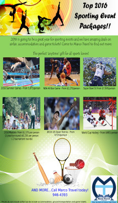 2016 Sports Events!