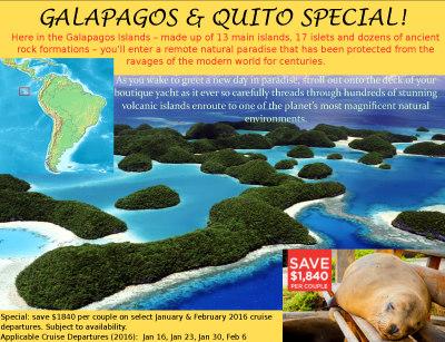 Galapagos & Quito Special!