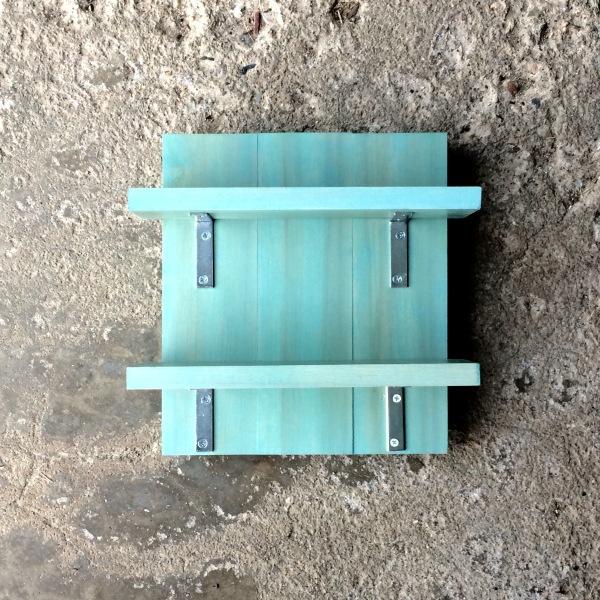 Two Shelf Organizer Vintage Aqua