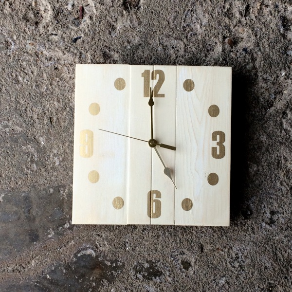 Antique White Clock with Gold Numbers