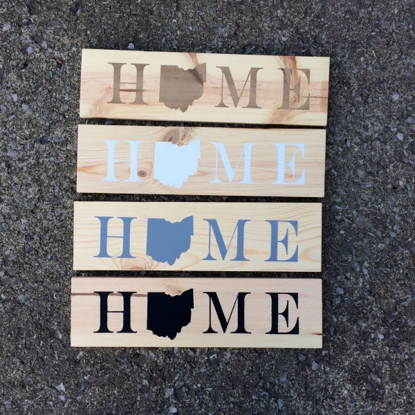 HOME State Sign Customized Solid Wood