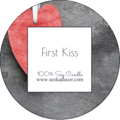 First Kiss Soy Candle made by Seeka Decor