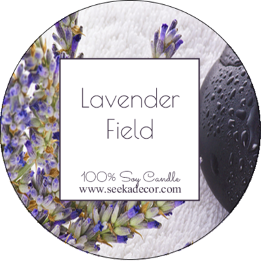 Lavender Fields Soy Candle made by Seeka Decor