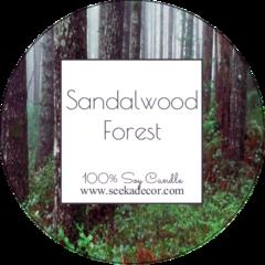 Sandalwood Soy Candle made by Seeka Decor