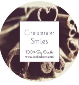 Cinnamon Smiles Soy Candle made by Seeka Decor
