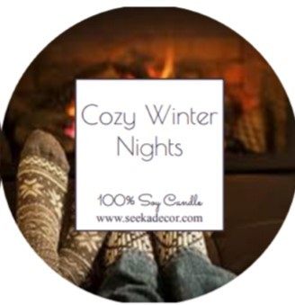 Cozy Winter Nights Soy Candle made by Seeka Decor