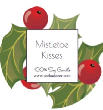 Mistletoe Kisses Soy Candle made by Seeka Decor