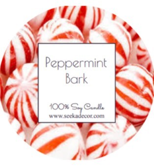 Peppermint Bark Soy Candle made by Seeka Decor