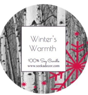 Winter's Warmth Soy Candle made by Seeka Decor