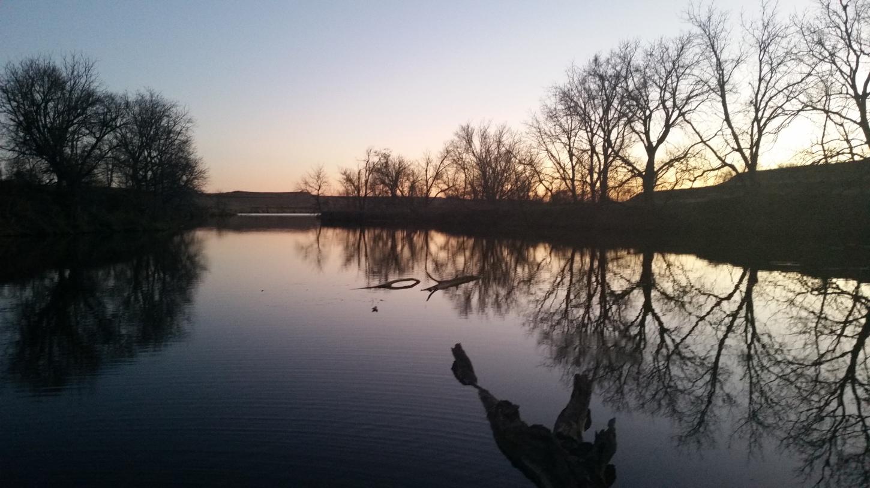 Beaver pond in Western Iowa