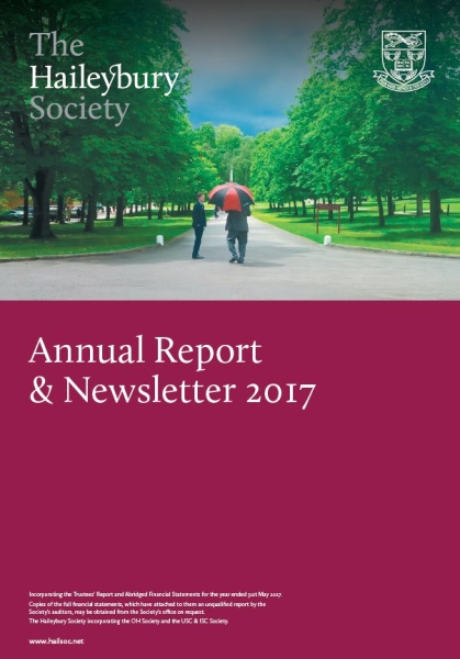 Read the latest Annual Report from the Haileybury Society