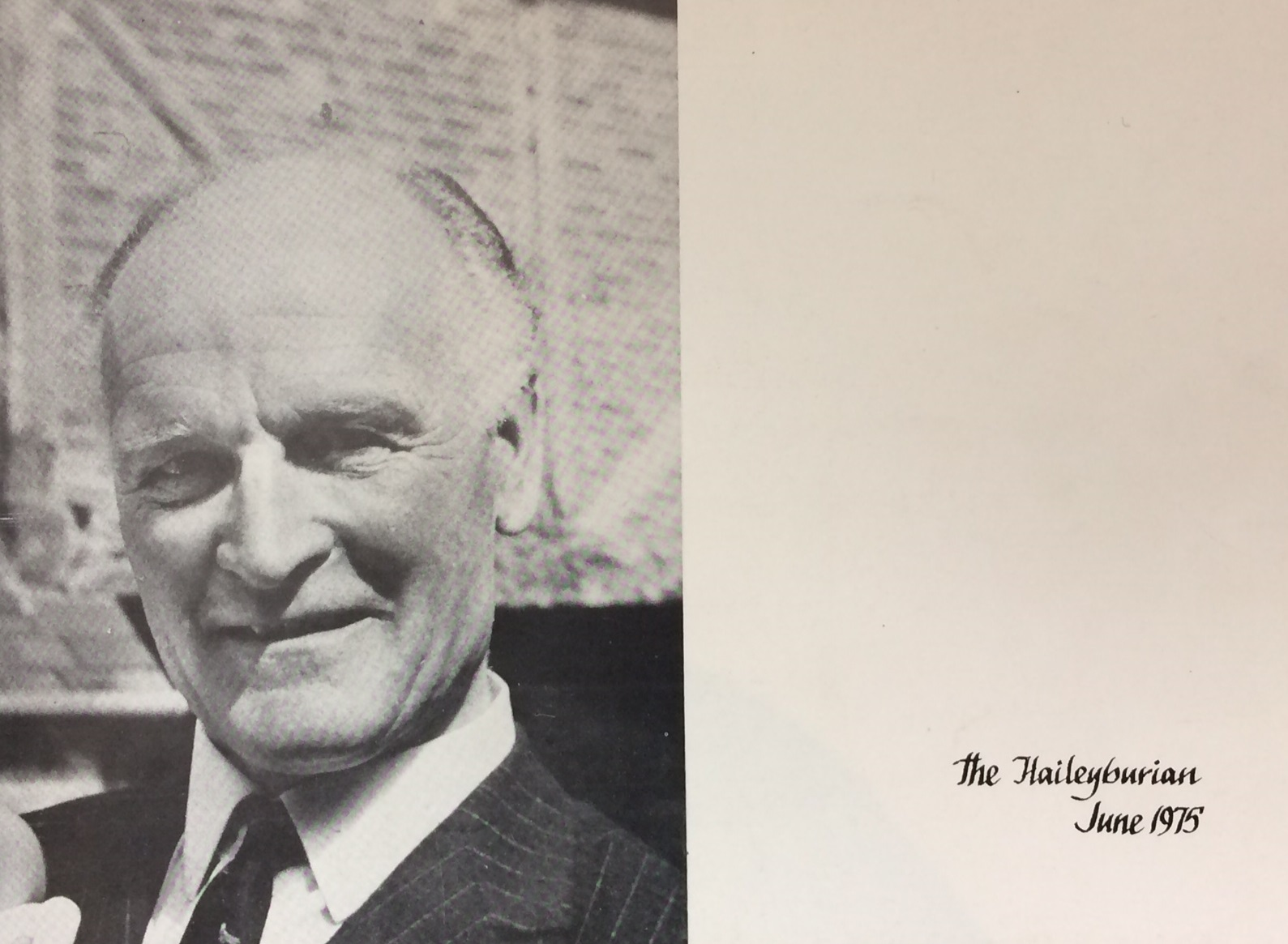 A Dramatic Week at Haileybury in 1975 recalled