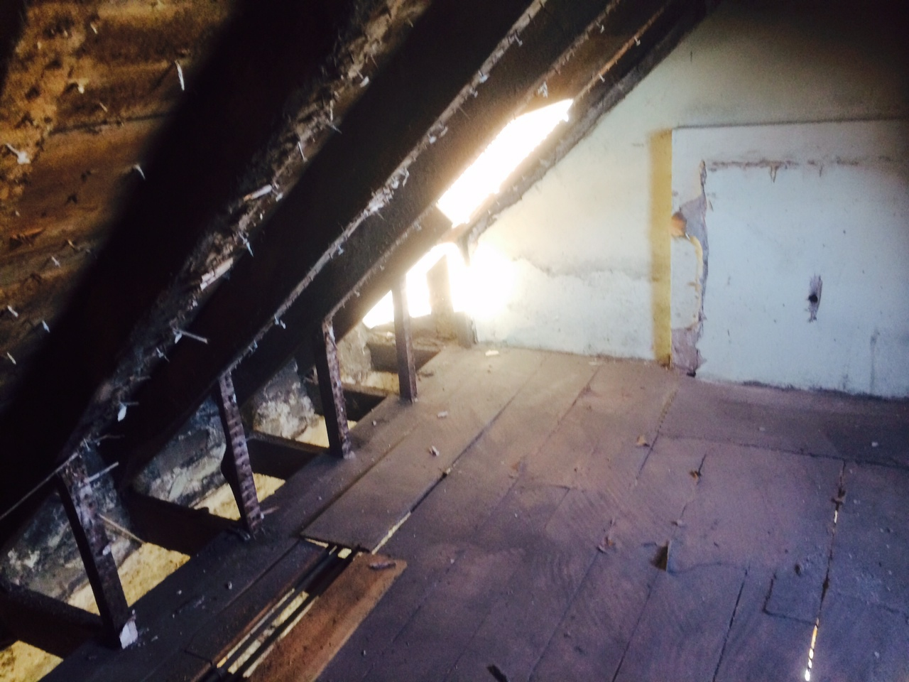 upstairs plaster removal