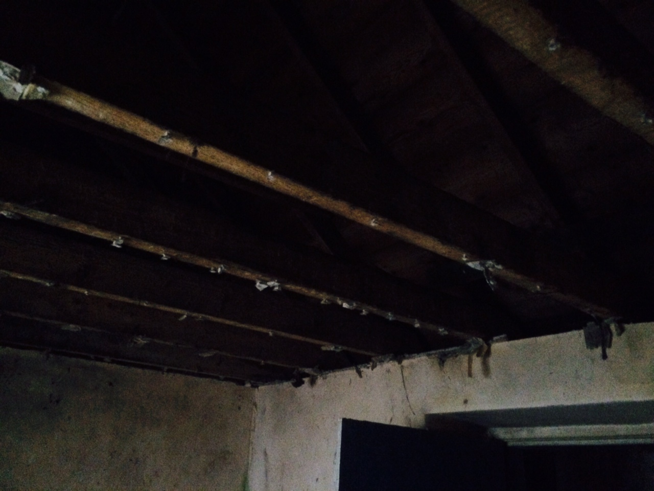 bathroom ceiling removed