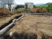 garage foundations dug and started