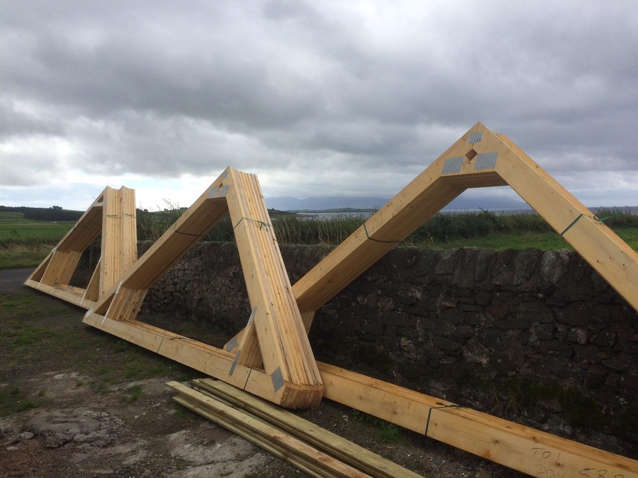 roof trusses arrived