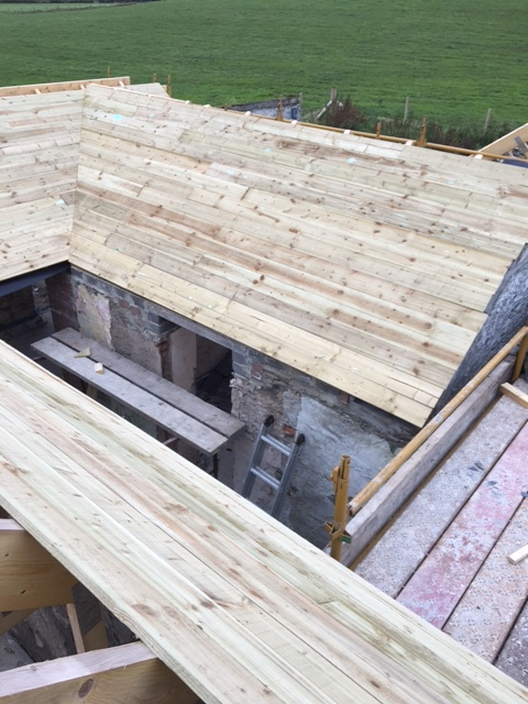 new roofs on kitchen and bathroom