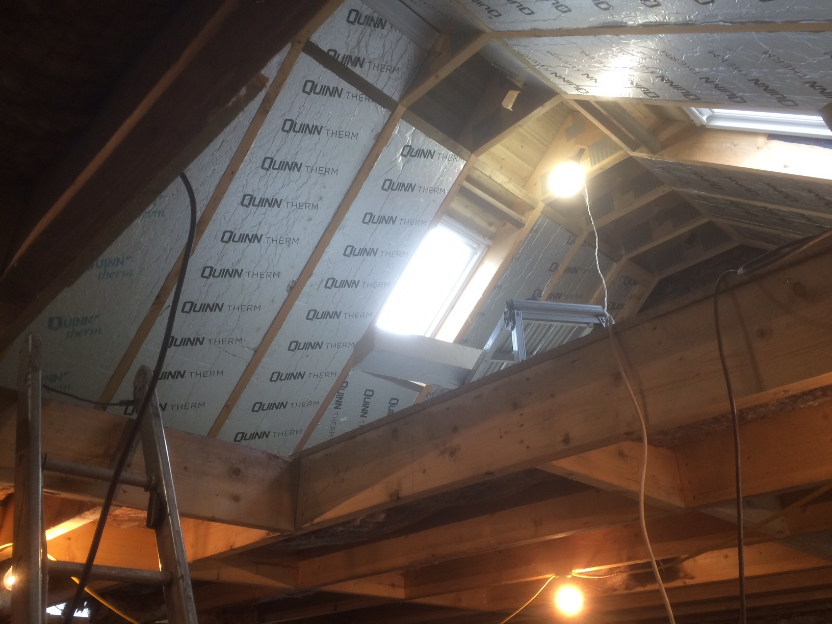 roof insulation going in