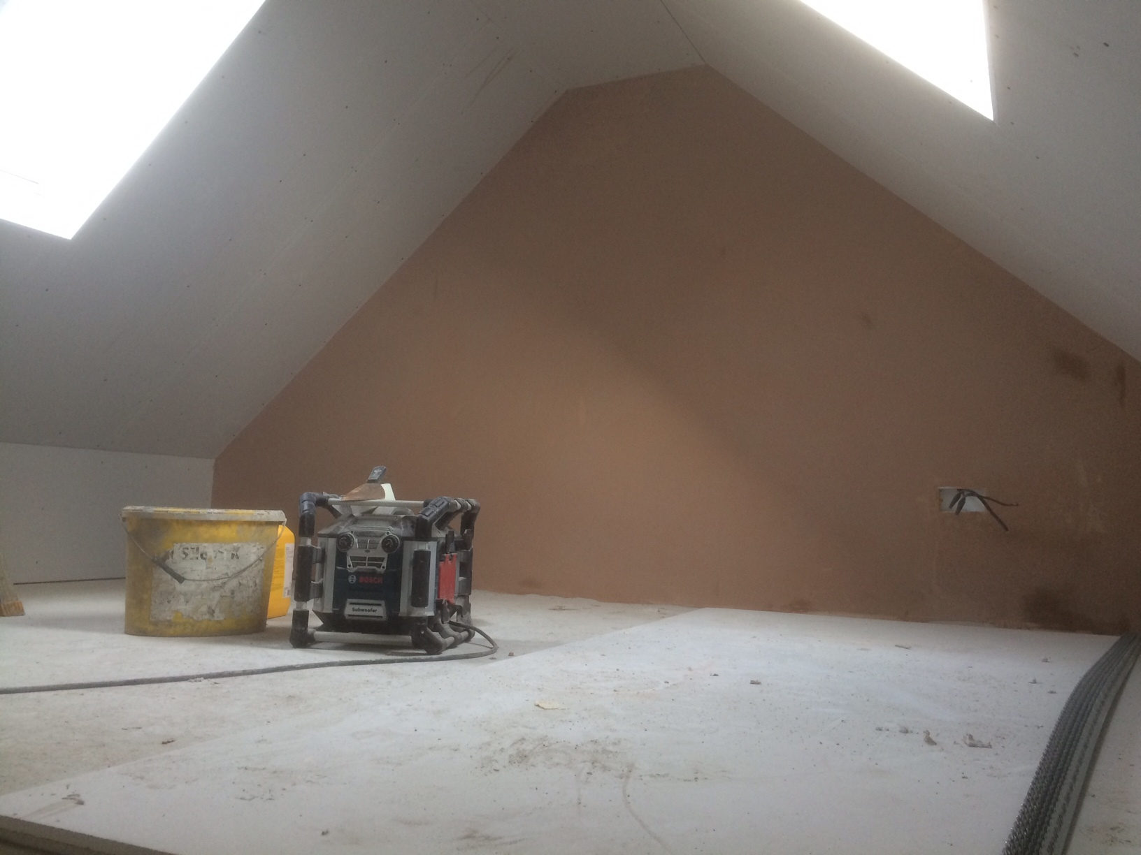 plastering started