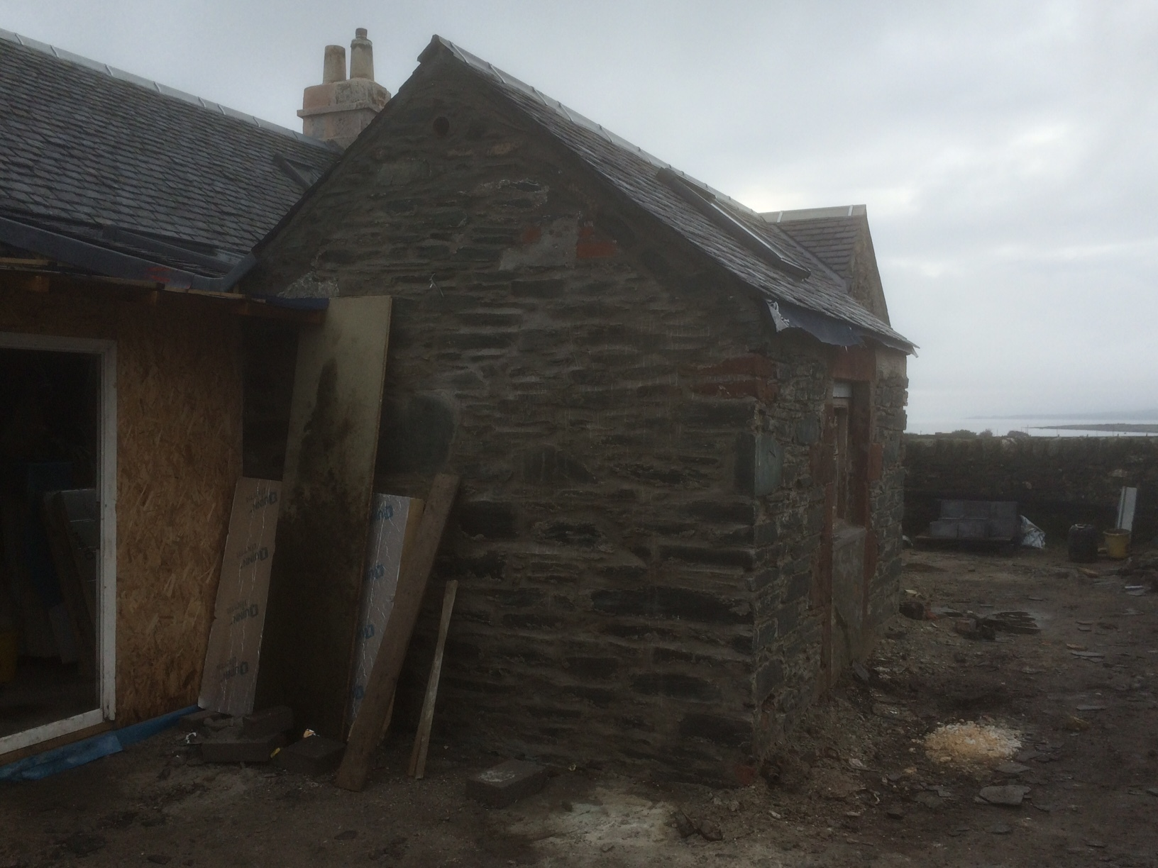 stonework picked out and repointed