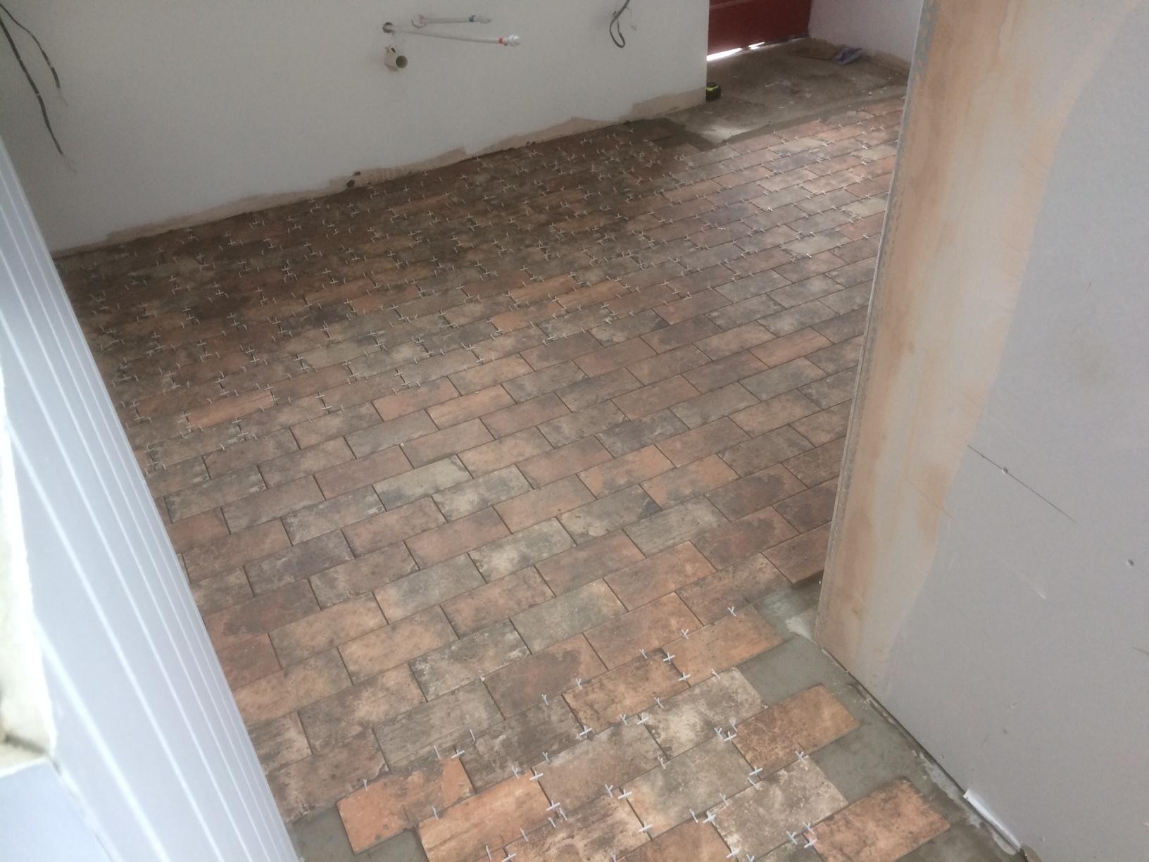 kitchen floor tiled