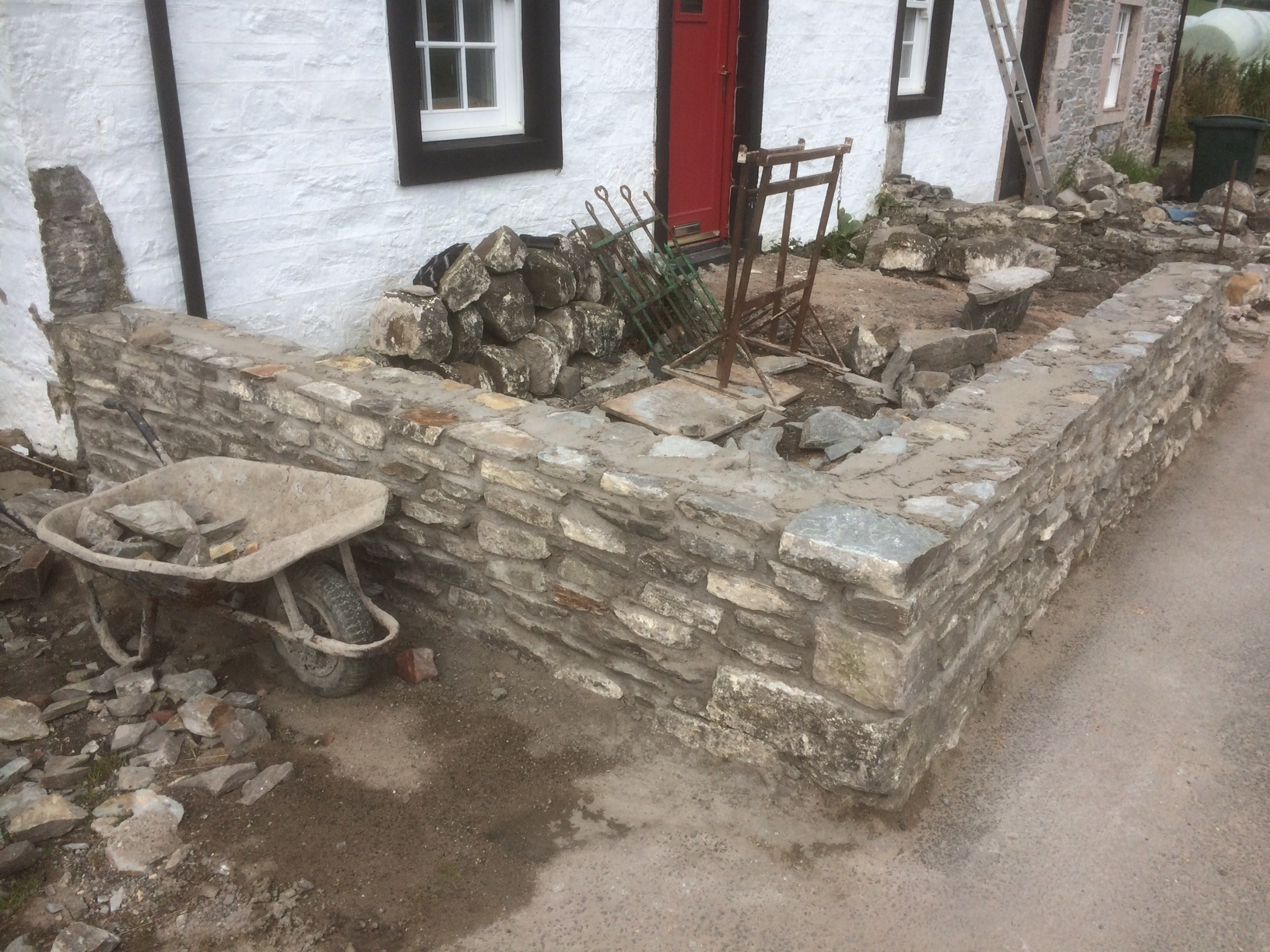front wall rebuild