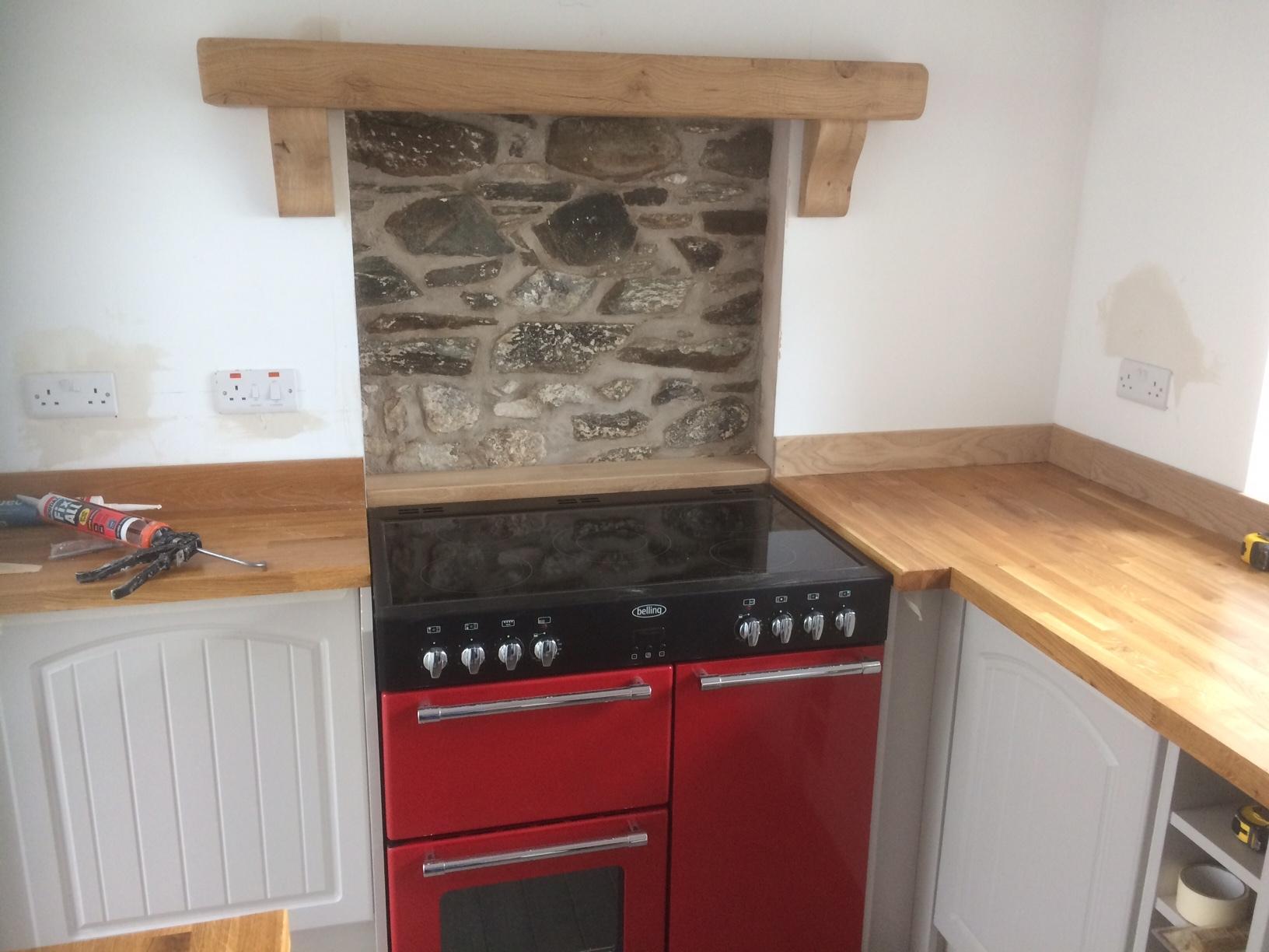kitchen mantle piece in