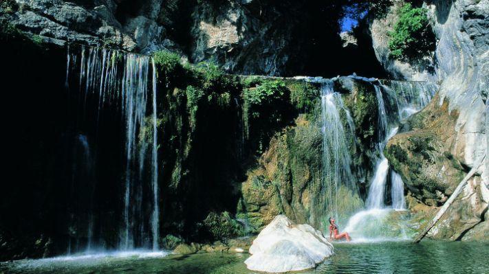 Rock pools in Pigna Liguria