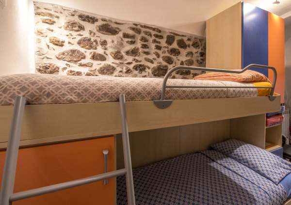 Children's bedroom with bunk beds Liguria Italy
