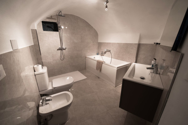 Luxurious bathroom, Liguria Italy