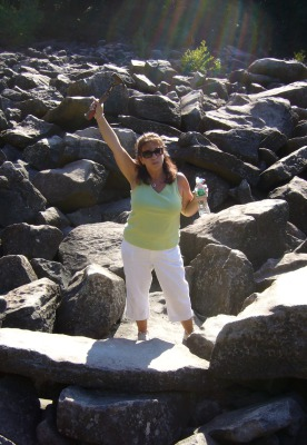 Christina Turner Ward at Ringing Rocks, PA