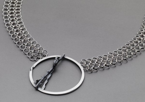 Silver Chainmail Necklace