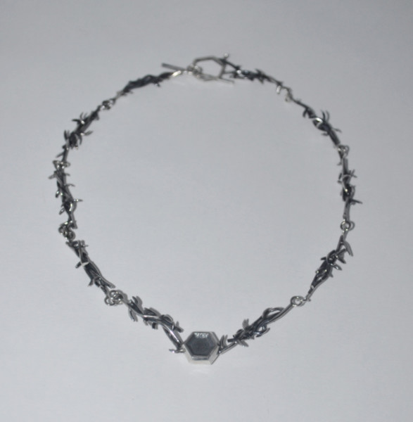 Silver Thorn Necklace