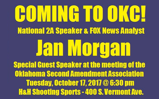 Special Guest Speaker Jan Morgan Oct 17, 2017!