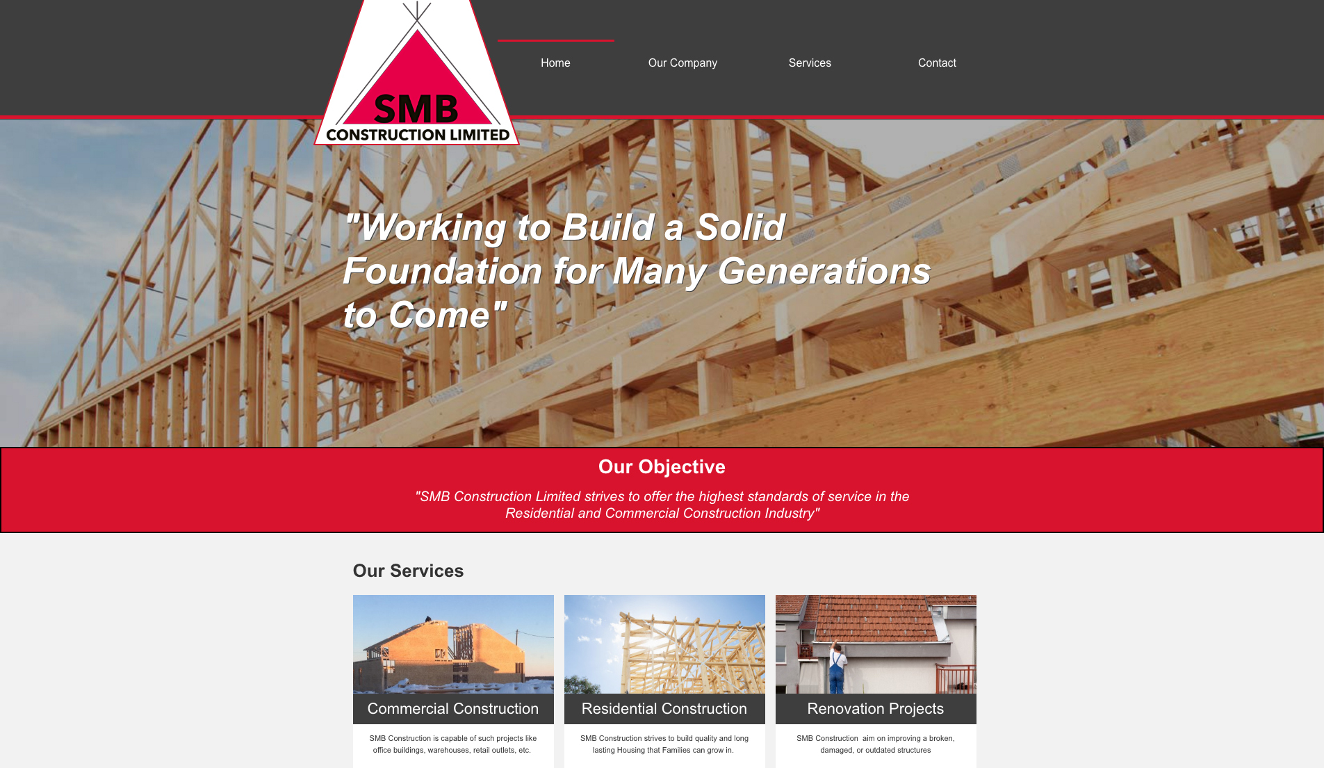 SMB Construction Limited - Set Up & Go Plan