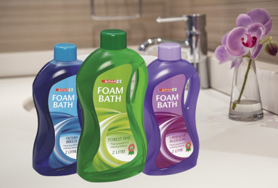 Spar Foam Bath Plastic bottles