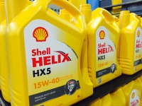 Shell Helix plastic bottles