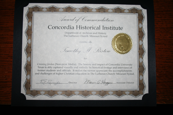 CHI 2010 certificate