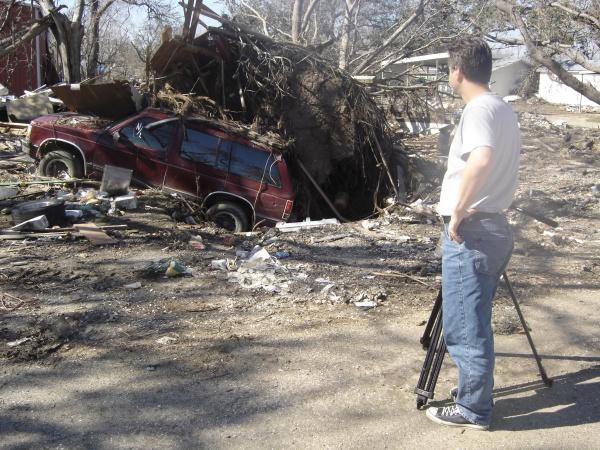 Amid the devastation of Cameron Parish