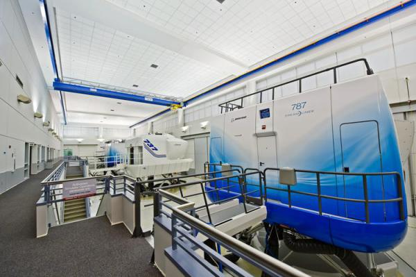 Boeing Flight Simulator at Customer Service Training Center
