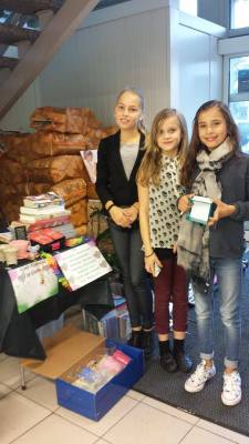 Donations from 3 girls of age 10.