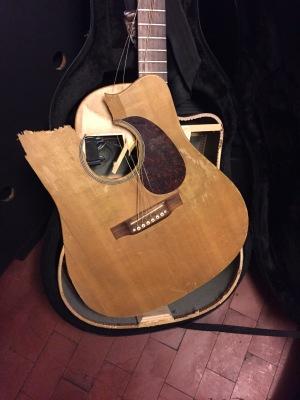 Broken guitar, broken van and a horrid cold... It comes in threes