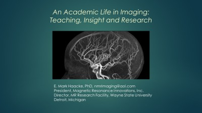 An Academic Life in Imaging: Teaching, Insight and Research