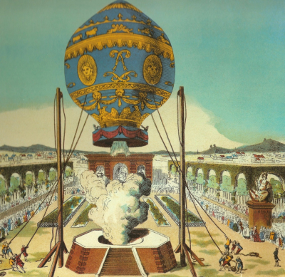 The Montgolfier experiments and human flight