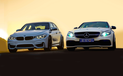 BMW M3 vs. Merc C63 AMG - what gives? Image: Michele Lupini